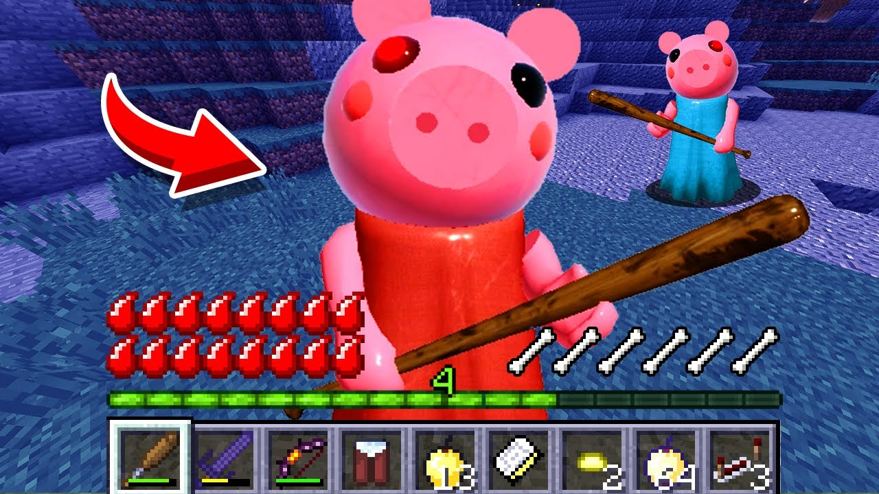 How to play PIGGY ROBLOX in Minecraft! Real life family PIGGY Battle NOOB VS PRO Animation