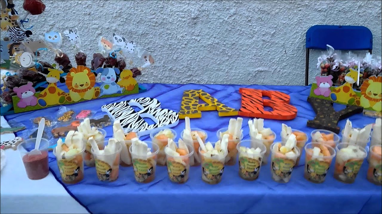 Mesa baby shower animales