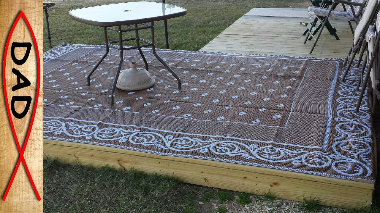 Quick easy deck for rv or backyard youtube for Patio decks for sale