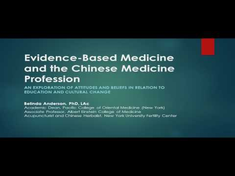 Evidence-Based Medicine & the Chinese Medicine Profession