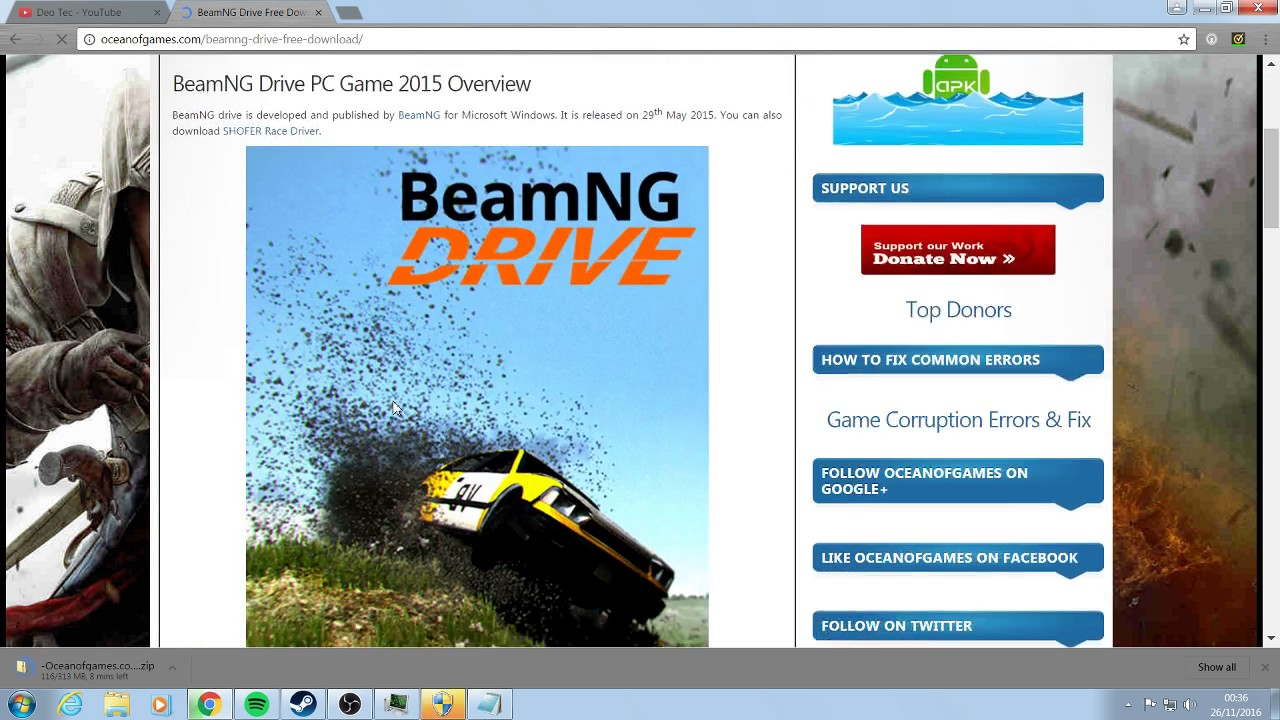 BEAMNG DRIVE DEMO TÉLÉCHARGER