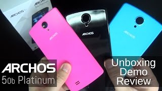 ARCHOS 50b Platinum - Unboxing, Review and Demo