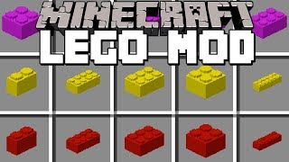 Minecraft LEGO MOD! | BUILD INSTANT LEGO HOUSES, VEHICLES & MORE! | Modded Mini-Game