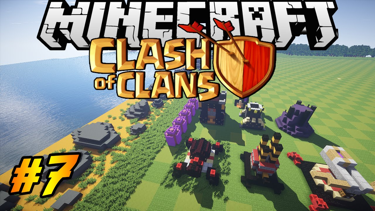 Clash Of Clans In Minecraft Making Of  Inferno X Bow Wizard Tower Youtube