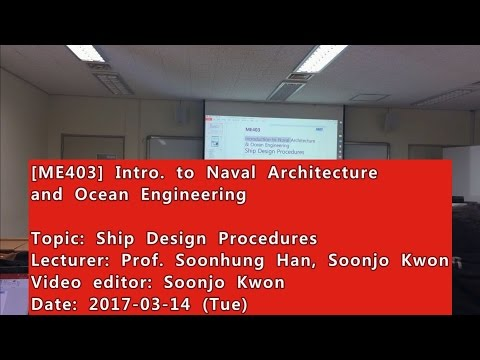 Introduction to Naval Architecture and Ocean Engineering : Ship Design Procedures