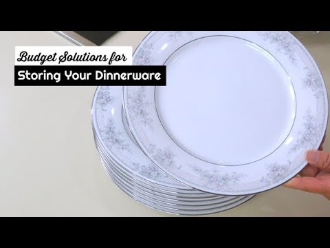 Budget Solutions For Storing Your Dinnerware ~ Organizing Dishes & China ~ Amy's Weekly Cooking Tips
