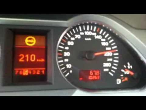 Audi A6 2.0T CVT 0-226 kph (2009 MY)