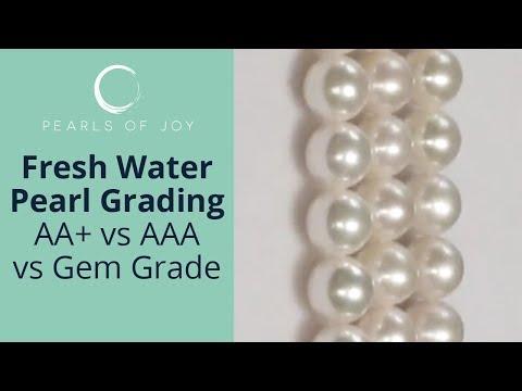 Freshwater pearl grading (AA+  vs AAA vs Gem Grade)