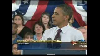 Obama eliminates NASA jobs & Space program, promises the Moon - Cincinnati, Ohio speech