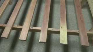 Making A Simple Wooden Bed Frame (20120604bedframe)