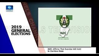 INEC Includes Zamfara APC Candidates On The Ballot Pt.1 22/02/19 |News@10|