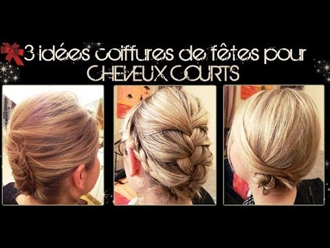 3 id es coiffures pour cheveux courts partie 2 l a hairstyle inspiration youtube. Black Bedroom Furniture Sets. Home Design Ideas