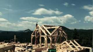 In Four Minutes - Timelapse Colorado Timberframe Project
