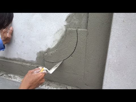 Amazing Concrete and Cement Working - Techniques Building Beautiful Walls Using Sand and Cement