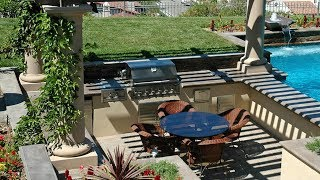 Gambar cover [Modern Backyard] Backyard Designs With Pool And Outdoor Kitchen [Small Backyard Ideas]