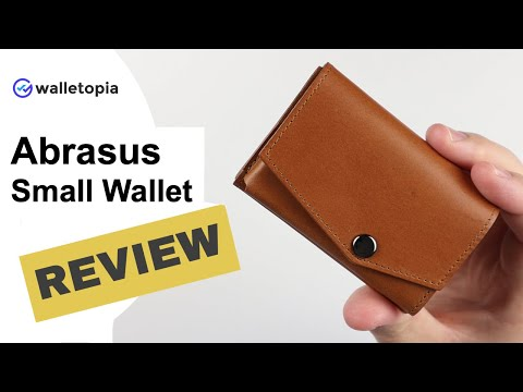 Abrasus Small Wallet Perfectly Marries Cards, Cash And Coins!