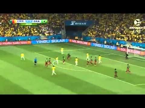 Brazil Vs Cameroon all goals world cup 2014