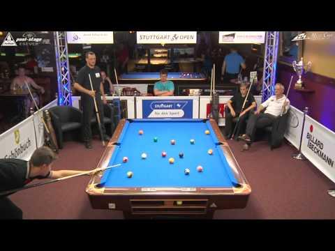 Stuttgart Open 2015, No. 15, Showmatch, Galic / Zobrekis vs. Vogel / Eckert, 10-Ball, Pool-Billard