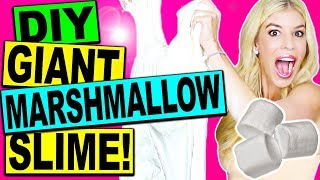 DIY GIANT EDIBLE MARSHMALLOW SLIME!!