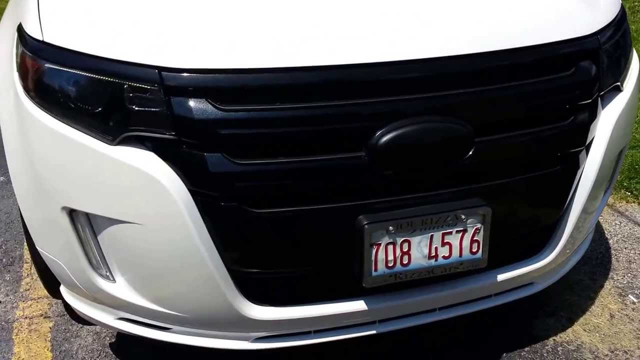 Vinyl Wrap Chrome 2013 Ford Edge Sport Youtube