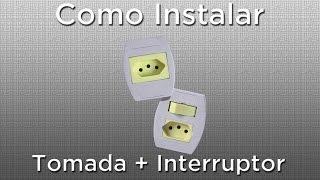 Como instalar tomada e interruptor juntos