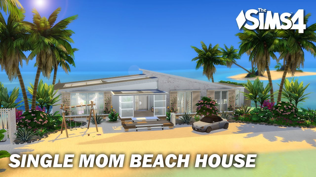 Single Mom Beach House | No CC | Sims 4 | Stop Motion