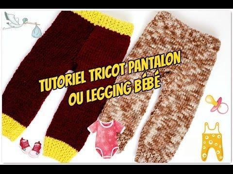 Pantalon ou legging bébé tutoriel tricot/Pantaloni del bambino maglia 🐣