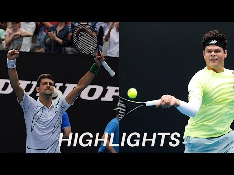 NOVAK DJOKOVIC VS MILOS RAONIC - AO 2020 - QUARTER FINAL - HIGHLIGHTS (HD) - BEST POINTS