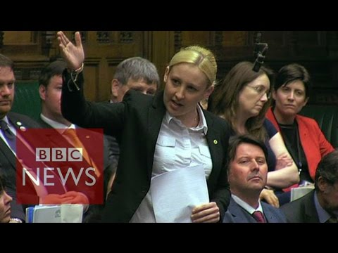 Mhairi Black: Applause greets youngest MP's maiden speech - BBC News