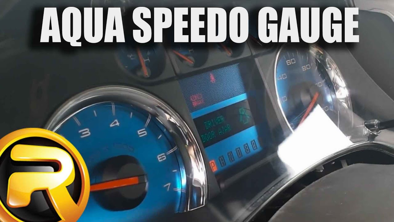 How to Install US Speedo Aqua Edition Gauge Face Kit