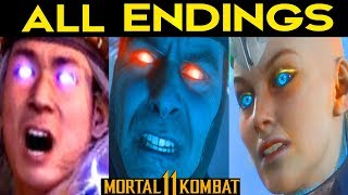 Mortal Kombat 11 - ALL ENDINGS (Bad Ending + Good Ending) + SECRET ENDING