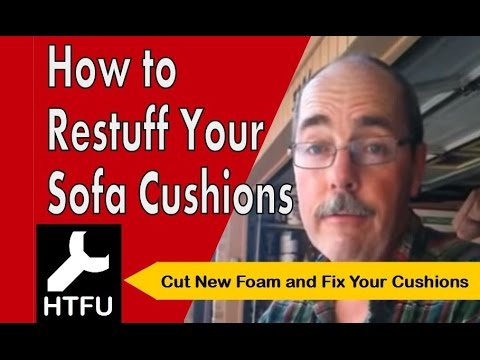How To Restuff Sofa Cushions Replace Foam For New Back And Fix A Sagging Couch