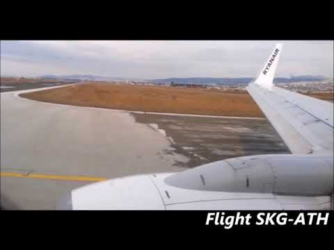 Timelapse from Ryanair flight Thessaloniki to Athens (26-03-18)