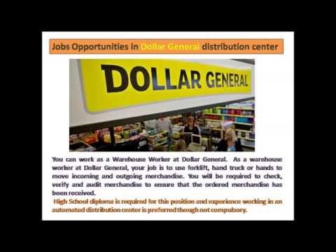 Dollar General distribution center jobs