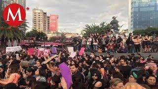 Marcha feminista, entre destrozos y gritos exigen justicia