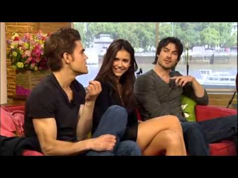 Nina Dobrev, Ian Somerhalder & Paul Wesley - The Vampire Diaries stars on This Morning