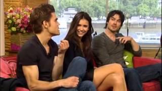 Nina Dobrev, Ian Somerhalder & Paul Wesley - The Vampire Diaries stars on This Morning