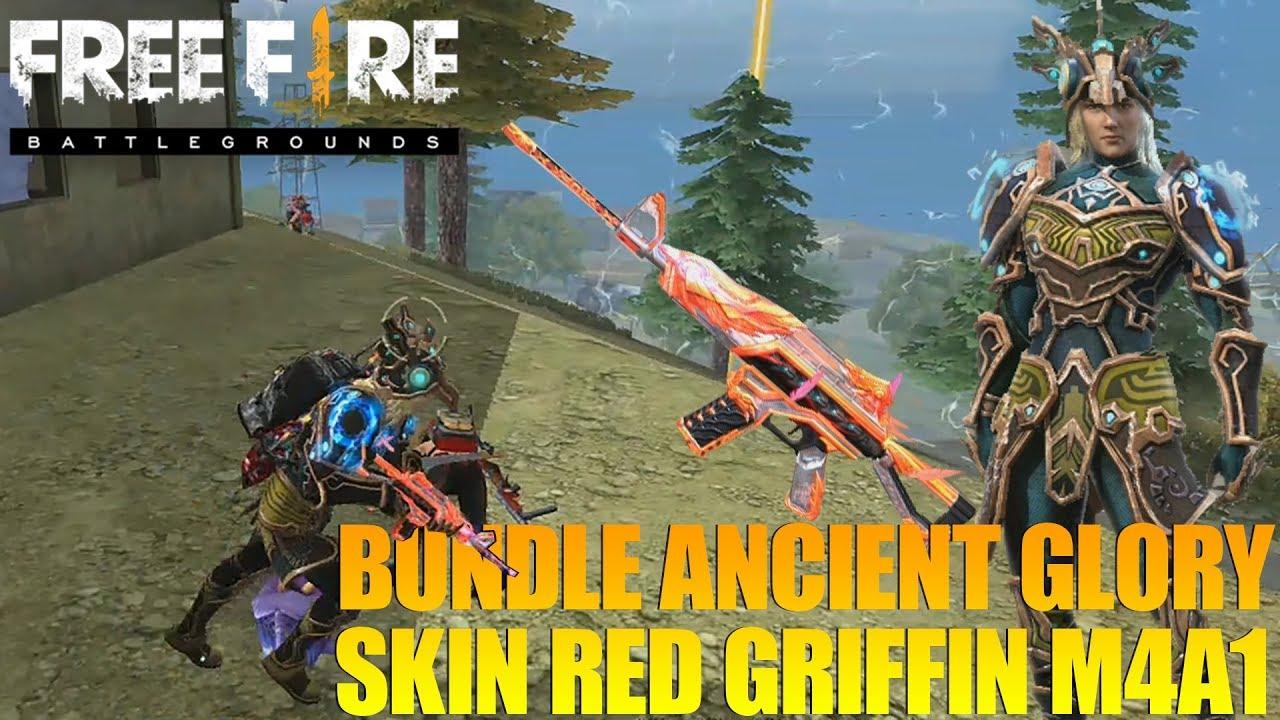 BANTAI SEMUA PAKAI BUNDLE ANCIENT GLORY & RED GRIFFIN M4A1 - GARENA FREE FIRE