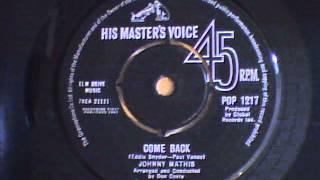 Watch Johnny Mathis Come Back video