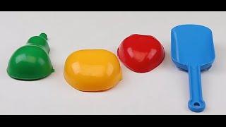 Обзор - распаковка игрушек Песочный набор Василёк N2 лопатка и три пасочки ХАРПЛАСТ Арт: 0824