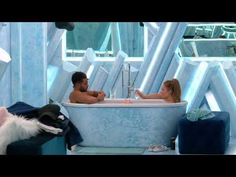 Jed/Beth talk about Kiefer, veto comp on bathtub date