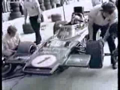 Formula One 1973 Emerson Fittipaldi pit stop