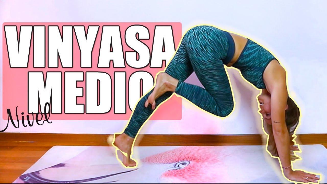 CLASE DE YOGA COMPLETA en español I Vinyasa nivel intermedio - YouTube abed4611ef9b