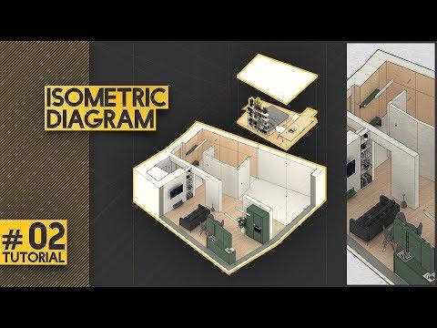 Isometric Diagram Tutorial - Bjarke Ingels Inspired (BIG)