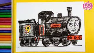 How to draw Train Donald Thomas and Friends
