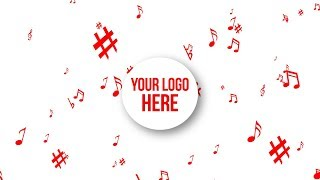 Music Notes Explosion - Your Logo Here White / Red // Free Motion Graphics