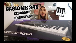 UNBOXING MY NEW KEYBOARD!! (CASIO WK 245)