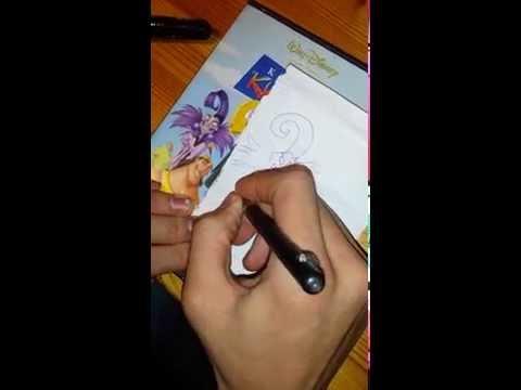 how to draw yzma from kuzco (tutorial)