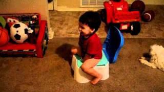 Pee Pee on big potty