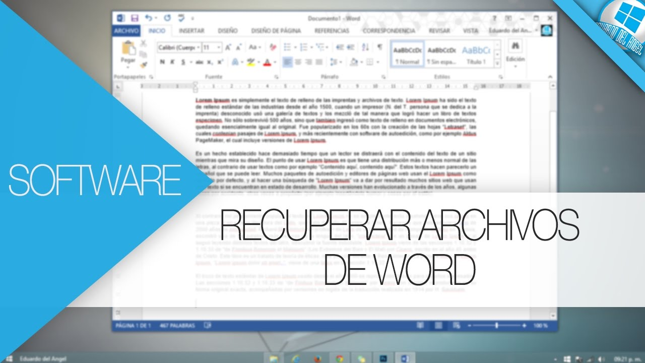Recuperar Archivos Sin Guardar En Word 2016 2017 Youtube